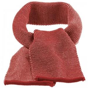 Fular din lână merinos tricotată - Disana - Bordeaux/Rose Melange