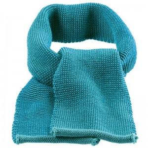 Fular din lână merinos tricotată - Disana - Blue/Lagoon Melange