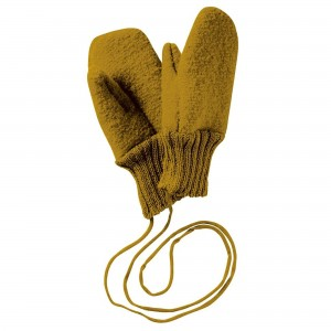 Mănuși din lână merinos organică tumbled/boiled - Disana - Gold