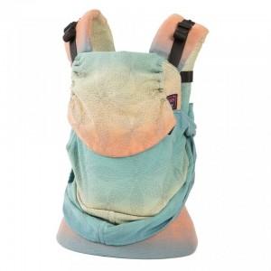 Marsupiu Emeibaby Organic Toddler - Baali Rainbow Silver Gray/Turquoise