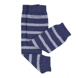 Jambiere Hoppediz din lână Merino și cașmir - Blue/Gray stripes