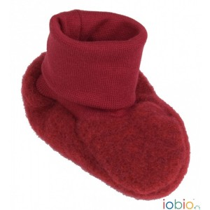 Botoșei din lână merinos organică fleece - Iobio - Berry