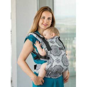 Marsupiu Isara Baby Full Wrap Conversion Kaleidoscopix Silver
