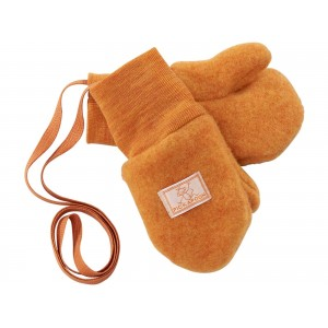 Mănuși din lână merinos organică fleece - Pickapooh - Orange