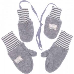 Mănuși din lână merinos organică fleece - Pickapooh - Gri