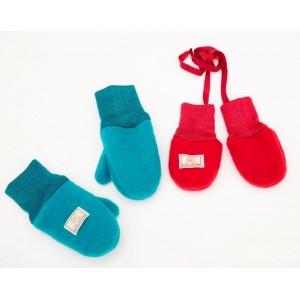 Mănuși din lână merinos organică fleece - Pickapooh - Roșu
