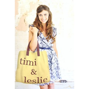Geantă fashion supersize - timi&leslie - Schlep-It-All Tote Daisy